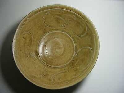 Antique Chinese Carved Yaozhou Celadon Glazed Song Dynasty Bowl