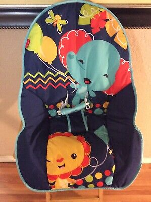 Fisher-Price Infant-to-Toddler Rocker Geo Cover Cushion Part Replacement Blue Rd