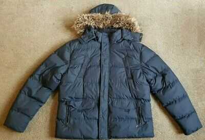 New Mens Dissident Humberstone Quilted Puffer Hooded Winter Jacket Size S XL