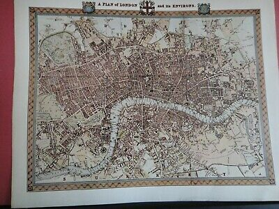 London Replica of Map by R. Creighton, 1831 Antique Maps of Britain No.87