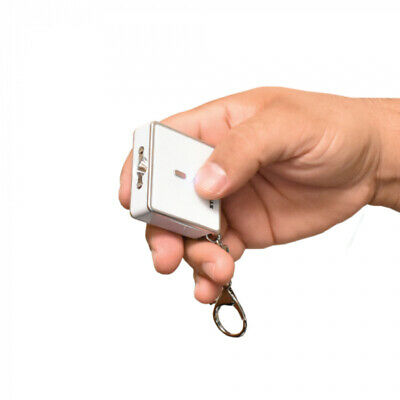 Streetwise Square Off - Powerful 26,000,000 Keychain Stun Gun With Alarm - WHITE