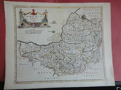 Somerset Replica of Map by Robert Morden, 1695 Antique Maps of Britain No.148