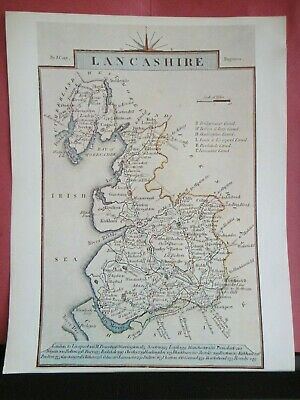 Lancashire Replica of Map by J. Cary, 1814 Antique Maps of Britain No.113