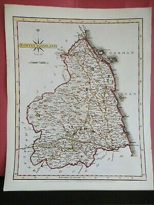 Northumberland Replica of Map by John Cary, 1787 Antique Maps of Britain No.65