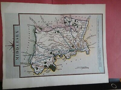 Middlesex Replica of Map by John Cary, 1790 Antique Maps of Britain No.164