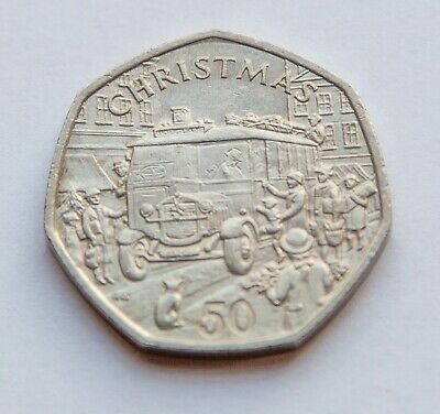 Isle of Man 1987 Christmas 50p Coin, Manx, Circulated