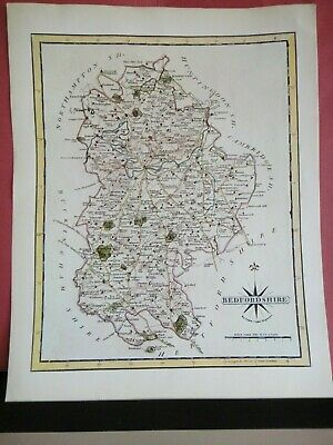 Bedfordshire Replica of Map by John Cary, 1787 Antique Maps of Britain No.64