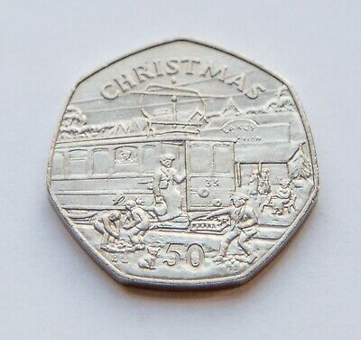 Isle of Man 1989 Christmas 50p Coin, Manx, Circulated