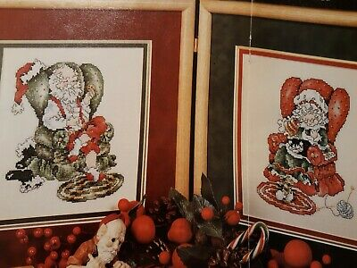 Santa & Mrs. Claus Counted Cross Stitch Pattern (from vintage Magazine)