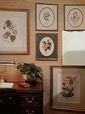 Gallery Botanical Collection (5) Counted Cross Stitch Patterns from Magazine
