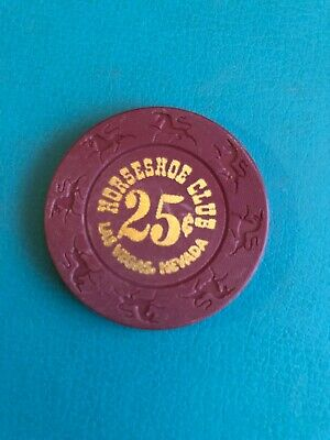 Horseshoe Club Las Vegas Casino Chip Issued 1999 Closed 2004
