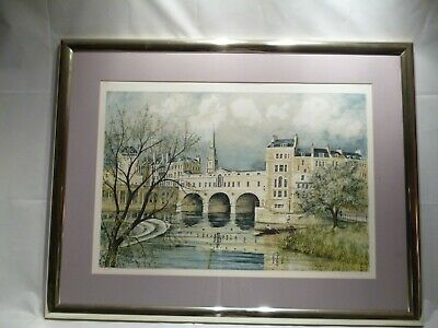 Limited Edition Framed Print Of A Bridge By Jeremy King Born 1933 /4126-4