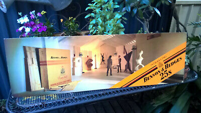 Cardboard sign advertising tobacco for B & H double sided 100cms by 30cms