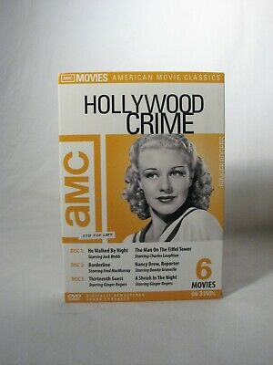 AMC Hollywood Crime 6 Movies on 3 DVD's Borderline~He Walked by Night