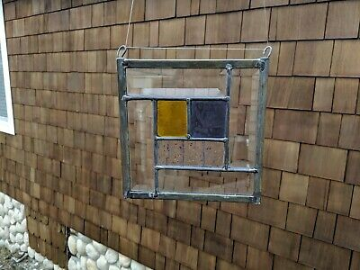 Bezeled Stained Glass Window Hanging 7""