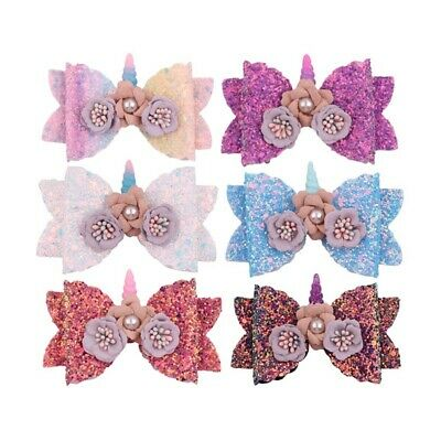 Sweet Women Girl Glitter Hairpins Bowknot Barrette Crystal Hair Clip Bow Gift LY