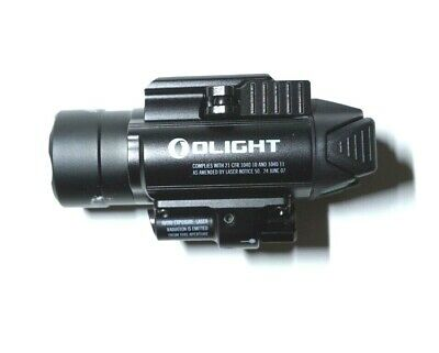 Olight Baldr Pro 1350 Lumens Light with Green Laser, Black Color
