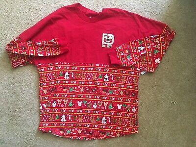 Disney Parks Holiday Christmas 2019 Ugly Sweater Spirit Jersey Gingerbread NWT