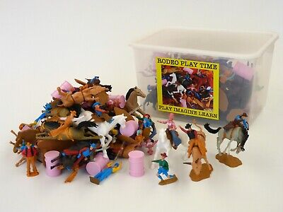 Rodeo Toy Play Set 65 pieces for Cowboy Cowgirl