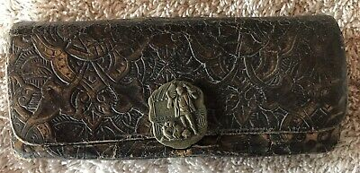Antique Victorian Tooled Leather Purse Wallet