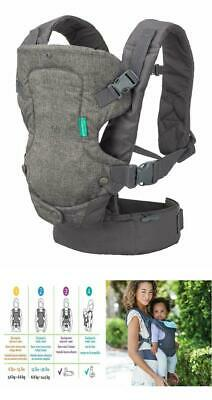 Infantino Flip Advanced 4-in-1 Convertible Carrier, Light Grey With Wonder Cover