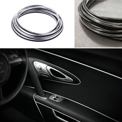 15M Flexible Chrome Trim for Car Interior Exterior Moulding Strip Decor Line ret