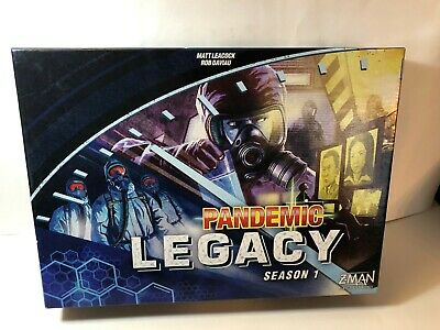 Pandemic Legacy Z-Man Games Strategy Board Game Season 1 (Blue Edition) COMPLETE