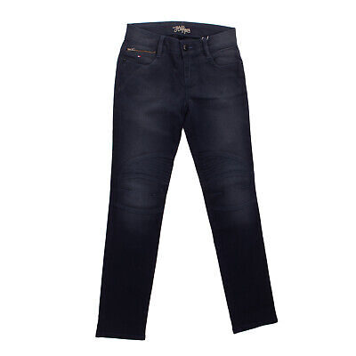 TOMMY HILFIGER Jeans Size 12Y Stretch Faded Effect Zip Fly Stitched Knees