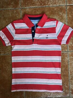 Mayoral Boys Polo Neck Red Stripe Top Age 7 Years