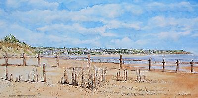 Limited Edition watercolour of Exmouth,Devon seafont