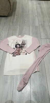 Girls Designer Mayoral Pink Winter Outfit Age 12 Years