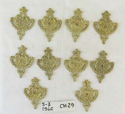10 Fret of Bronze Golden Decoration Parietal or for Furniture Palmettes CH29