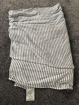 Solly Baby Wrap Natural Grey Stripe Excellent Condition Infant Sling Carrier
