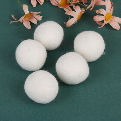 5-pack wool dryer balls natural fabric virgin reusable softener laundry 5cm xhP0