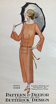 Vintage 1920s Butterick Authentic Advertising PrintSewing Patterns Art Deco