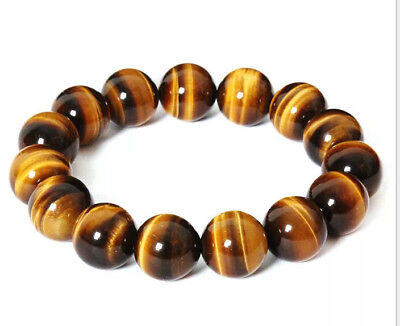 8mm Natural Stone  African Roar Natural Tiger's Eye Round Beads bracelet 7.5''