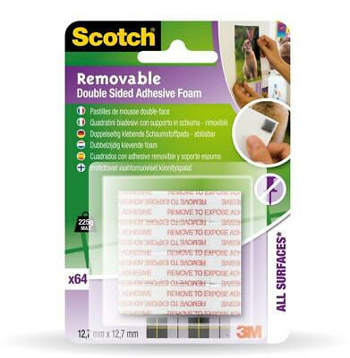 Scotch removable double sided adhesive foam squares