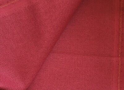 Burgundy red 32 Count Zweigart Murano even weave fabric various size options