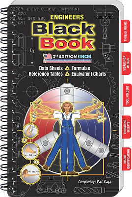 ENGINEERS Black Book - Large Workbench Edition - Great for toolbox or workshop!