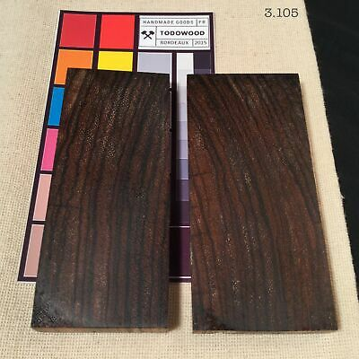 Stabilized Wood ZEBRANO Two Blanks