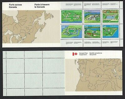 Canada BK87: 34c Canadian Forts Booklet contains Scott #1059a - pane of 10 VF-NH