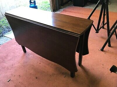 Antique Victorian drop leaf mahogany table