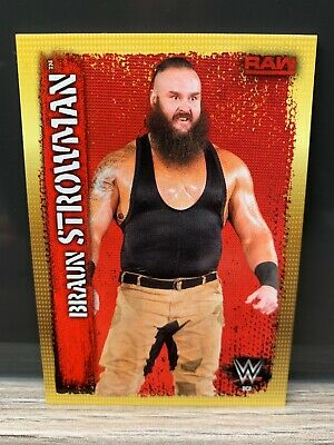 WWE Slam Attax 10th Edition Braun Strowman Collector Card Topps