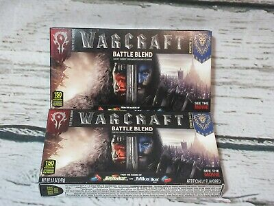 Lot of 2 Boxes  WARCRAFT Movie BATTLE BLEND *RARE* Candy Hot Tamales Mike & Ike