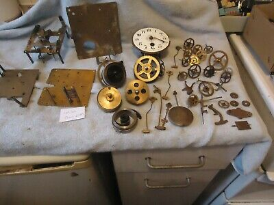 mixed lot of vintage clock parts lot 46