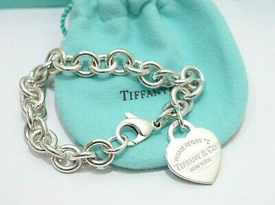 Tiffany & Co. Sterling Silver Return To Tiffany Heart Tag Bracelet 7.5""