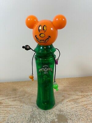 Disney Parks 2019 Mickey Mouse Pumpkin Not So Scary Halloween Glow Spinner NWOT