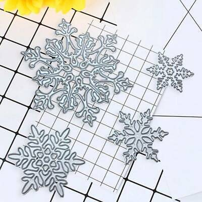 4pcs Christmas Snowflake Cutting Dies Metal Die Cut DIY Scrapbooking Paper Card