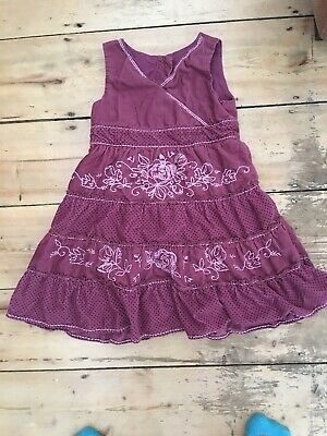Marks and Spencer Girls Aged 3-4 Dusky Pink Cord Dress (sml16)