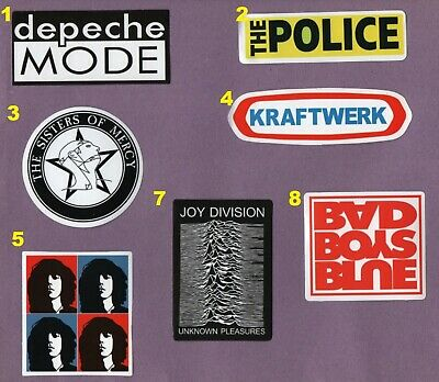 1980s MUSIC Stickers POST PUNK NEW WAVE GOTH POP ROCK 1977-1990 80s synthpop